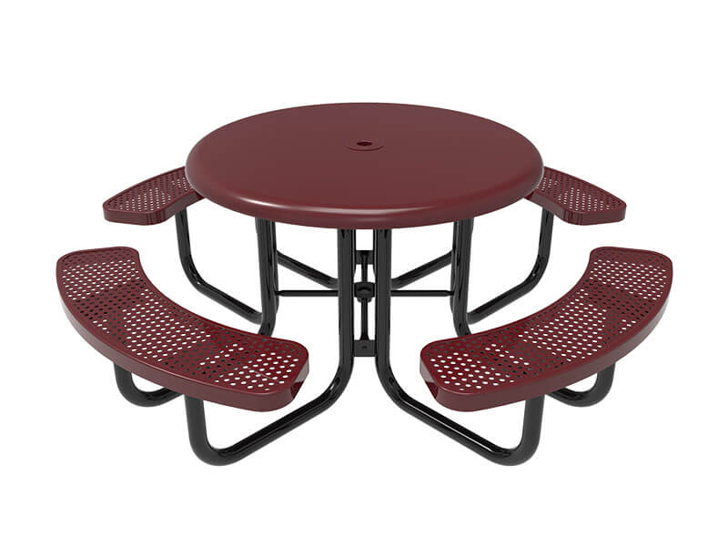08 - 46in Round Solid Top Portable Table
