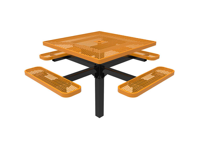 11-46in Square pedestal table